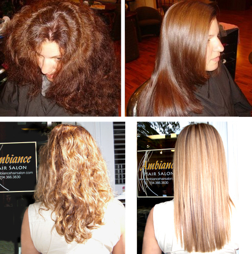 Before and After Keratin hair treatment